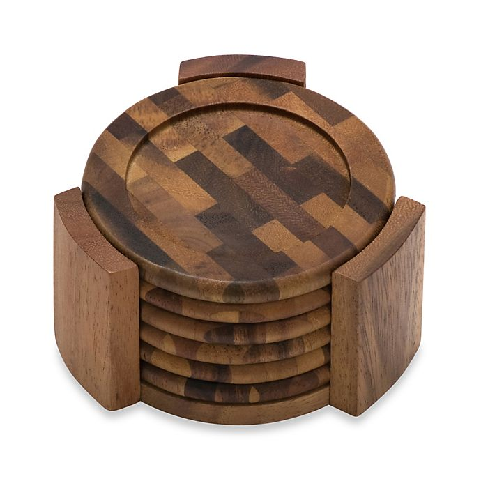 Alternate image 1 for Lipper International Acacia Coasters (Set of 6)