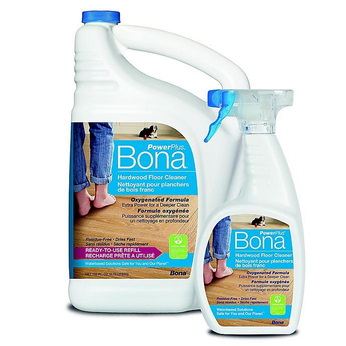 Alternate image 1 for Bona® PowerPlus™ 160 oz. Hardwood Floor Cleaner Refill with 22 oz. Spray Bottle