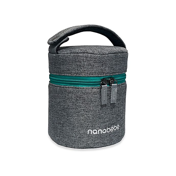 Alternate image 1 for nanobebe 3-Bottle Bottle Cooler in Grey/Teal