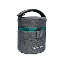 nanobebe 3-Bottle Bottle Cooler in Grey/Teal