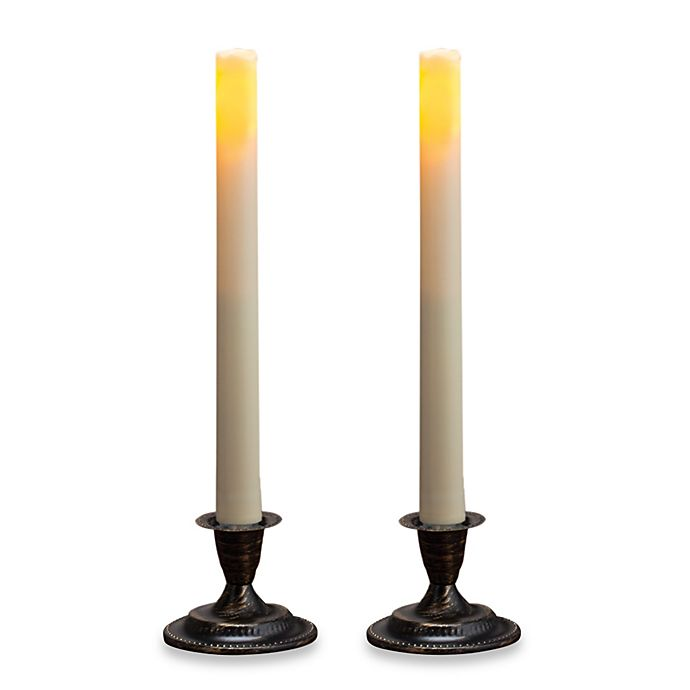 Alternate image 1 for Candle Impressions® 2-Pack Flameless Taper Candles