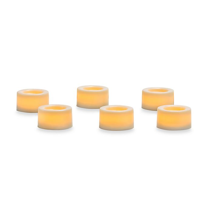 Alternate image 1 for Candle Impressions® 6-Pack Flameless Smooth Mini Votive Candles