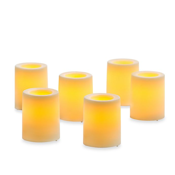 Alternate image 1 for Candle Impressions® 6-Pack Flameless Smooth Votive Candles
