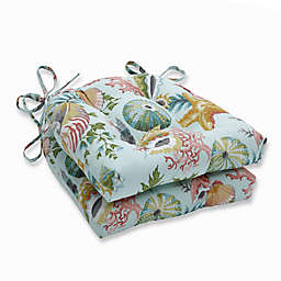 Pillow Perfect Reversible Chair Pads (Set of 2)