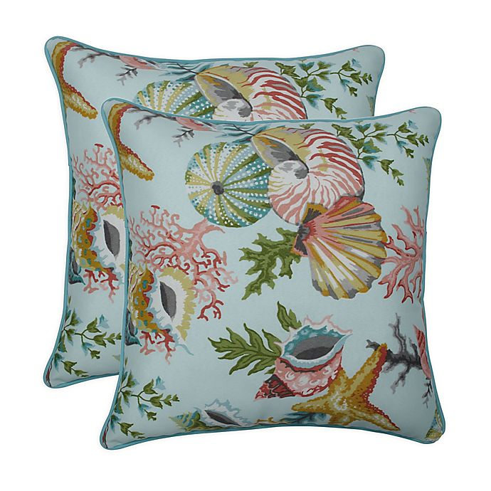 Alternate image 1 for Pillow Perfect Square Throw Pillows (Set of 2)