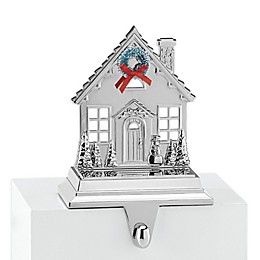 Lenox® Cottage Stocking Hanger in Silver