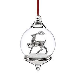 Reed & Barton Reindeer Snow Globe Christmas Ornament