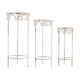 Pure Garden Nesting Round Plant Stands (Set of 3)