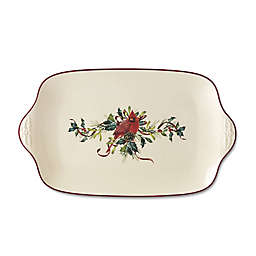 Lenox® Winter Greetings Oversized Platter in Red/Green