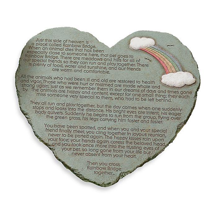 85b54724086 Rainbow Bridge Heart Shape Stepping Stone