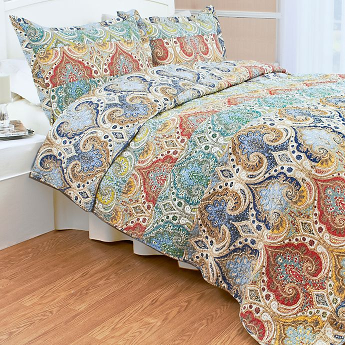 Alternate image 1 for Genoa Twin Quilt Set in Blue