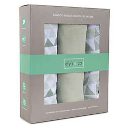 Ely's & Co.® 3-Pack Muslin Viscose Swaddle Blankets