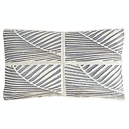 Safavieh Palm Cowhide Oblong Throw Pillow in White