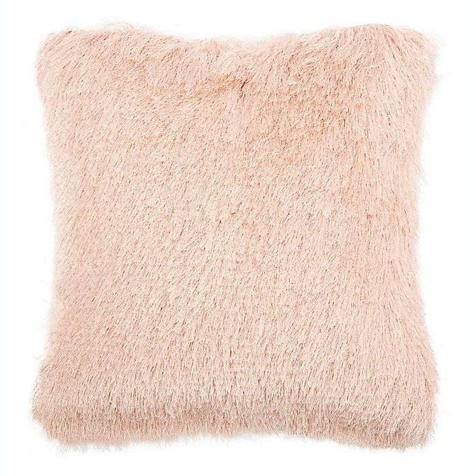 Alternate image 1 for Safavieh Chic Shag Square Throw Pillow in Blush