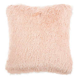 Safavieh Chic Shag Square Throw Pillow in Blush