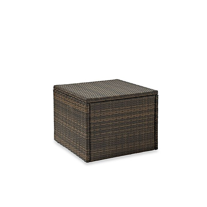 Alternate image 1 for Crosley Palm Harbor Collection Outdoor Wicker Coffee Sectional Table in Brown
