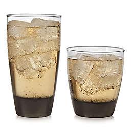 Libbey® Glass Classic 16-Piece Drinkware Set in Mocha