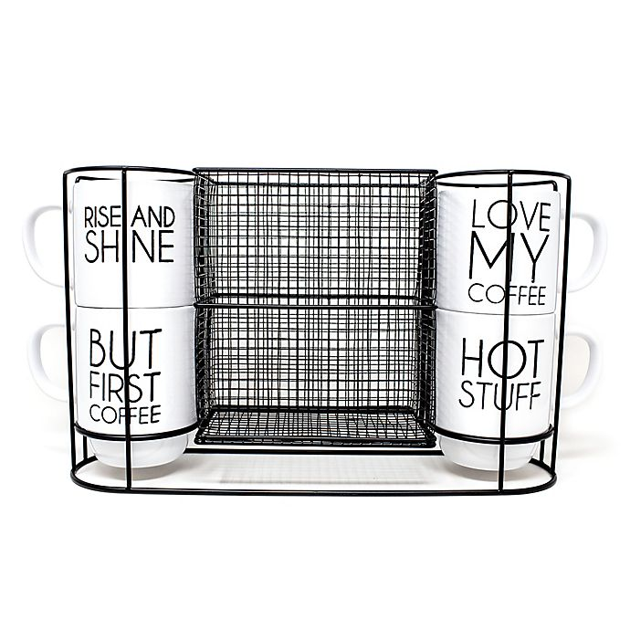 Alternate image 1 for 5-Piece Stacking Mug and Rack Set