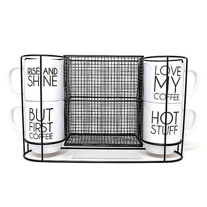 5 Piece Stacking Mug And Rack Set Bed Bath Beyond