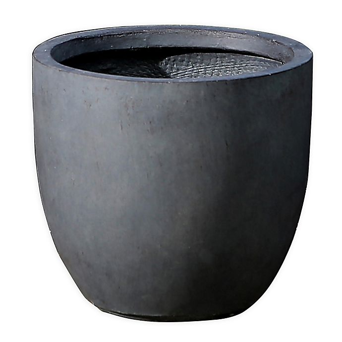 Alternate image 1 for Smooth Stone Finish Small Round Bowl Planter