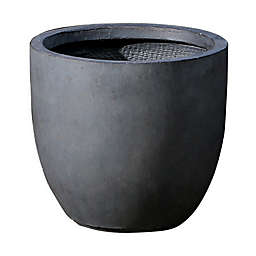 Smooth Stone Finish Medium Round Bowl Planter