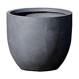 Smooth Stone Finish Large Round Bowl Planter