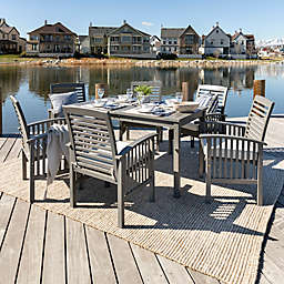 Forest Gate Arvada 7-Piece Acacia Wood Outdoor Dining Set in Grey Wash