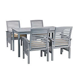 Forest Gate Arvada 5-Piece Acacia Wood Outdoor Dining Set in Grey Wash