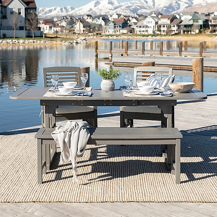 Alternate image 1 for Forest Gate Arvada 4-Piece Acacia Wood Outdoor Dining Set