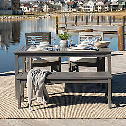 Forest Gate Arvada 4-Piece Acacia Wood Outdoor Dining Set in Grey Wash