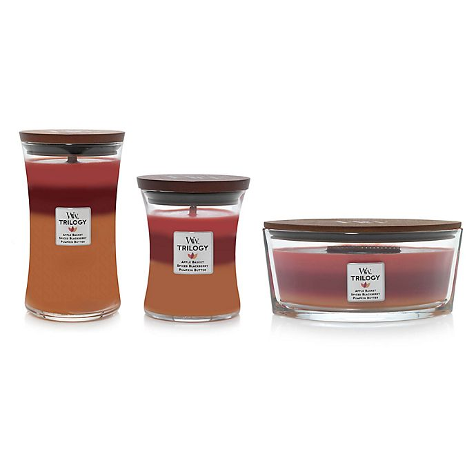 Alternate image 1 for WoodWick® Trilogy Autumn Harvest Jar Candle Collection