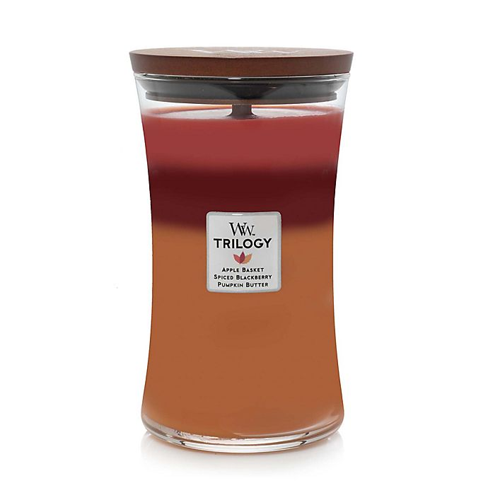 Alternate image 1 for WoodWick® Trilogy Autumn Harvest Large Hourglass Jar Candle