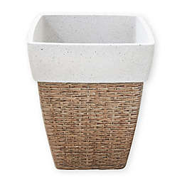 Vifah Square Large Self-Watering Wicker Planter in Sandy Brown