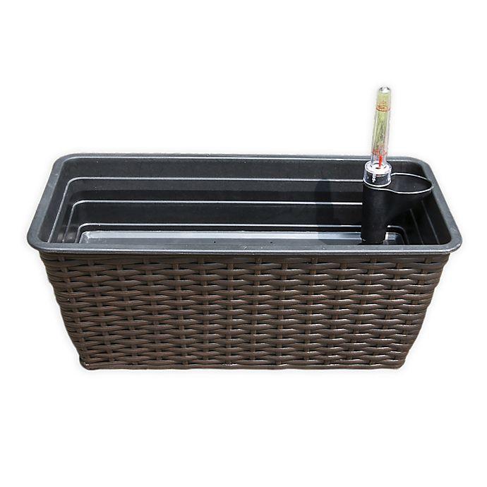 Alternate image 1 for Vifah Large Self-Watering Wicker Planter in Espresso