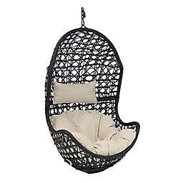 Sunnydaze Decor Cordelia Hanging Egg Chair with Cushions