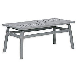 Forest Gate Olive Outdoor Acacia Wood Coffee Table