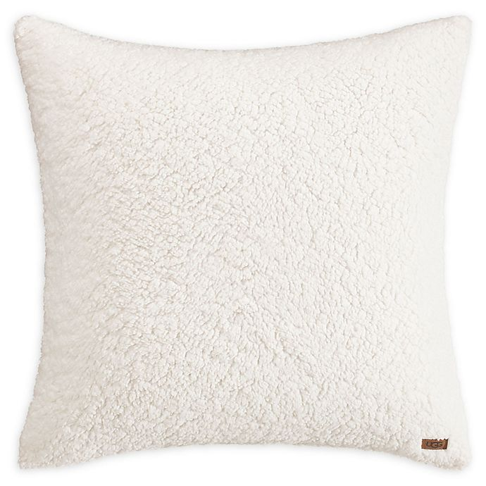 Alternate image 1 for UGG™ Sherpa European Pillow Sham in Snow