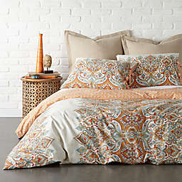 Levtex Home Emile Twin Duvet Cover Set in Beige/Orange