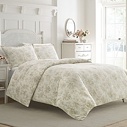 Laura Ashley® Faye Toile Flannel Duvet Cover Set