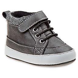 Joseph Allen Striped High Top Sneakers in Grey/Black