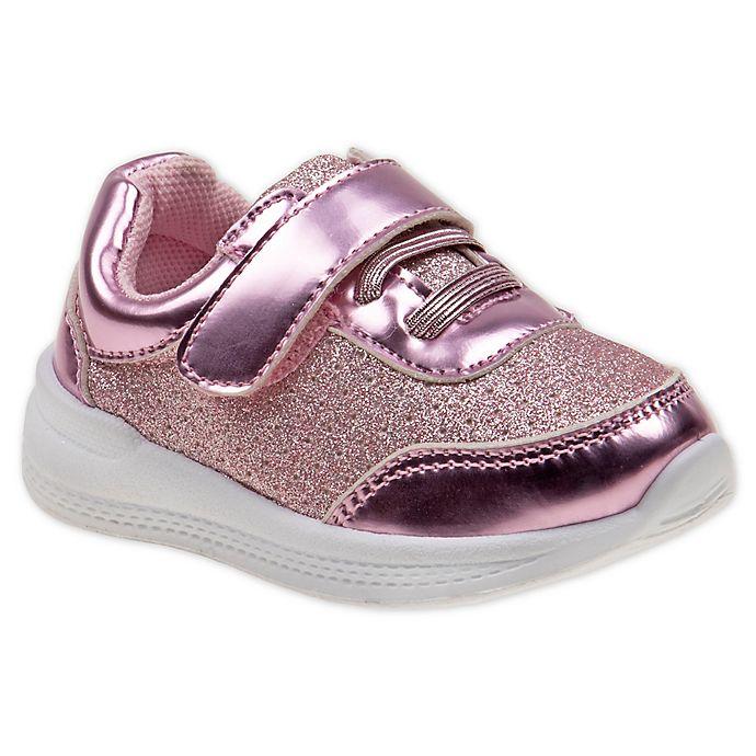 Alternate image 1 for Laura Ashley® Glitter Sneaker in Pink