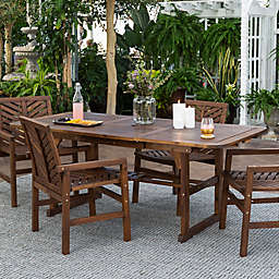Forest Gate Olive 5-Piece Outdoor Acacia Extendable Table Dining Set in Dark Brown