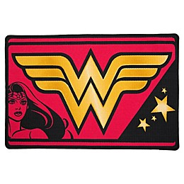 "DC Comics Wonder Woman 2'6"" x 4' Area Rug in Pink"