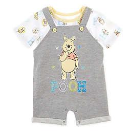 Disney Baby® 2-Piece Pooh Shortall Set in Grey