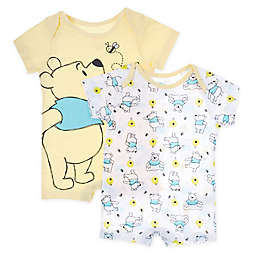Disney Baby® 2-Pack Pooh Knit Rompers