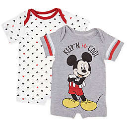 Disney Baby® 2-Pack Mickey Mouse Knit Rompers