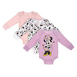 Disney Baby® 3-Pack Minnie Mouse Thermal Bodysuits in Mauve