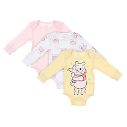 Disney Baby® 3-Pack Winnie the Pooh Thermal Bodysuits in Yellow