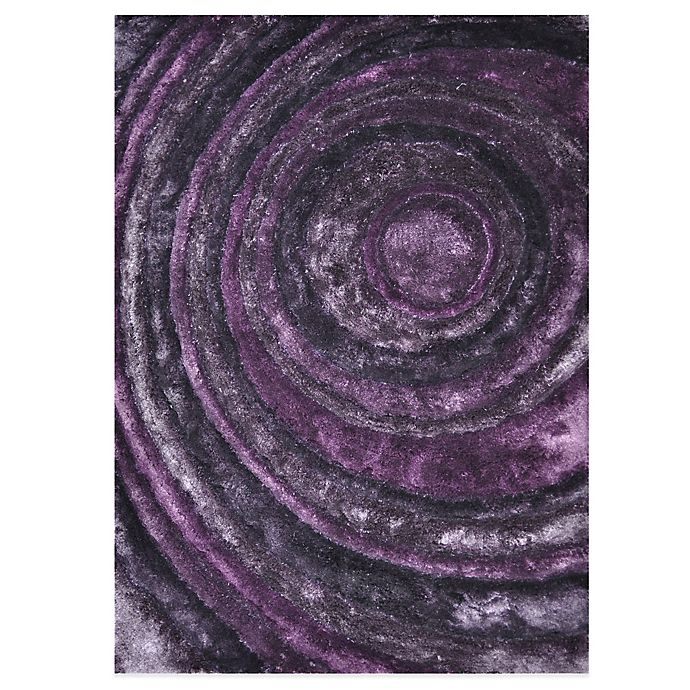 Alternate image 1 for Loloi Rugs Glamour Shag Rug in Eggplant