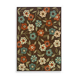 Cabana Bay Resort Rug in Brown Floral
